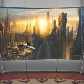 Fine Decor Disney Star Wars Coruscant View 8-483