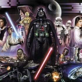 Fine Decor Disney Star Wars Darth Vader Collage 8-482