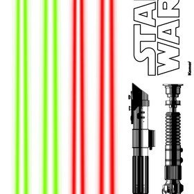 Fine Decor Disney Star Wars Lightsaber Wall Sticker 14020H