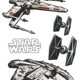 Fine Decor Disney Star Wars Spaceships Wall Sticker 14723H