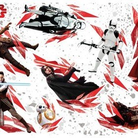Fine Decor Disney Star Wars The Last Jedi Wall Sticker 14727H