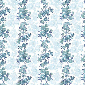Fine Decor Charlise Blue Floral Stripe 2657-22252
