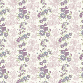 Fine Decor Charlise Plum Floral Stripe 2657-22255