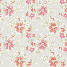 Fine Decor Chloe Peach Floral 2657-22202