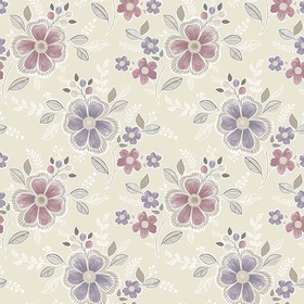 Fine Decor Chloe Purple Floral 2657-22203
