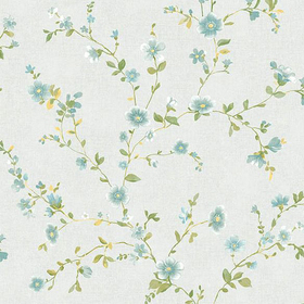 Fine Decor Delphine Light Blue Floral 2657-22248
