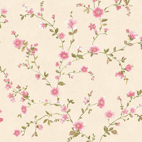 Fine Decor Delphine Pink Floral Trail 2657-22249