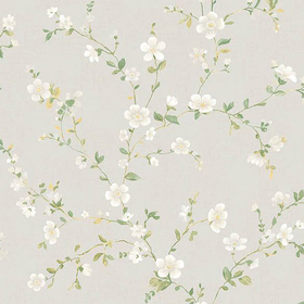 Fine Decor Delphine White Floral Trail 2657-22251