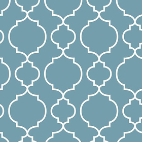 Fine Decor Desiree Blueberry Quatrefoil 2657-22257