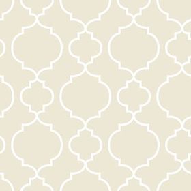 Fine Decor Desiree Taupe Quatrefoil 2657-22260