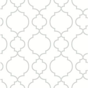 Fine Decor Desiree White Quatrefoil 2657-22259