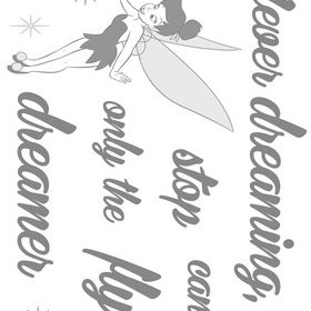 Fine Decor Disney Never Stop Dreaming Stickers 14001