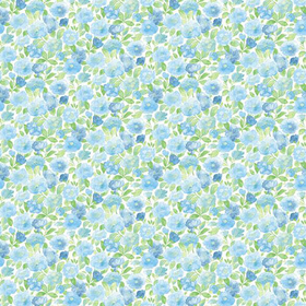 Fine Decor Elsie Sky Blue Floral 2657-22215