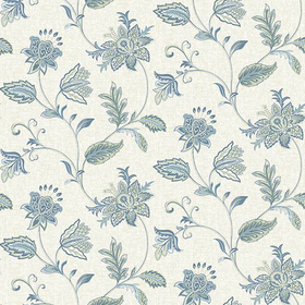 Fine Decor Georgette Denim Jacobean 2657-22205
