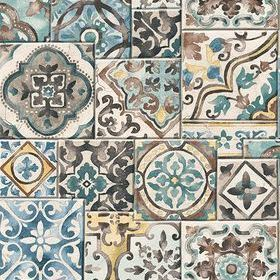 Fine Decor Marrakesh Tiles Teal 2701-22315