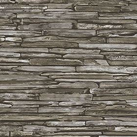 Fine Decor Stacked Slate Green 2701-22351