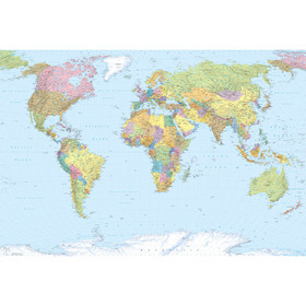 Fine Decor World Map XXL4-038