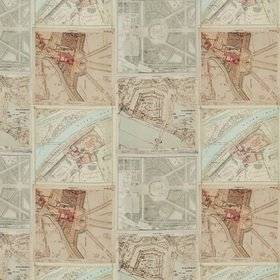 GP & J Baker Palace Maps Linen Original BP10657-1