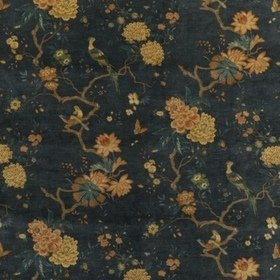 GP & J Baker Oriental Bird Velvet Teal BP10818-2