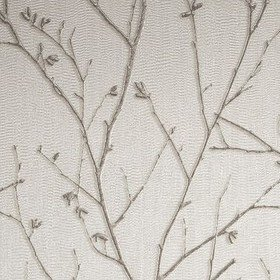 Graham & Brown Water Silk Sprig Ivory 104756