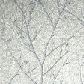 Graham & Brown Water Silk Sprig Light Silver 104755