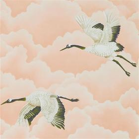 Harlequin Cranes In Flight Blush 111232