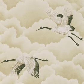 Harlequin Cranes In Flight Pebble 111231