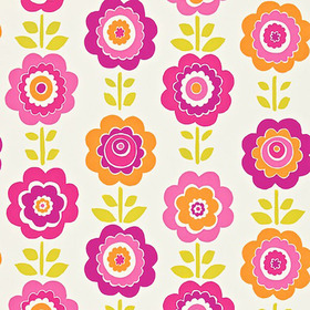 Harlequin Oopsie Daisy Pink-Orange-Lime 110546