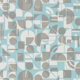 Harlequin Segments Teal-Chalk 111686