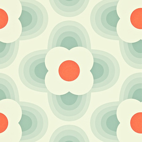 Orla Kiely Striped Petal Duck Egg 110404