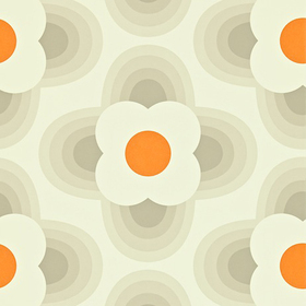 Orla Kiely Striped Petal Fog 110403