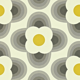 Orla Kiely Striped Petal Graphite 110402