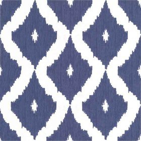 Graham & Brown Kelly Hoppen Ikat White-Prussian Blue 32-349