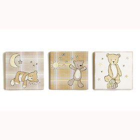 Arthouse Bear Hugs Set Of 3 Canvas 004171
