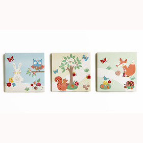 Arthouse Forest Friends Set Of 3 Canvas 004177