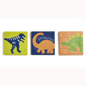Arthouse Dino Doodles Set of 3 Canvas 004153
