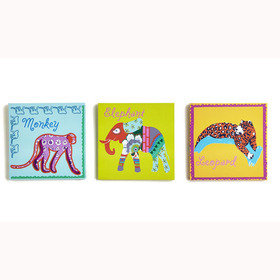 S.J. Dixon Jungle Animals Set Of 3 Canvas 004164