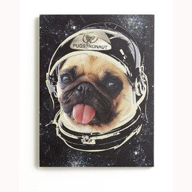 S.J. Dixon Space Pug Canvas 004158