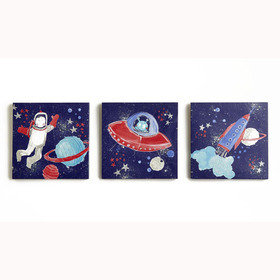 Arthouse Starship Set Of 3 Canvas 004156