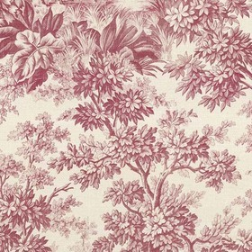 Little Greene Stag Toile Burgundy 0284SGBURGU