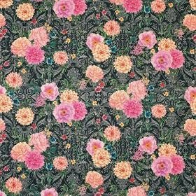 Matthew Williamson Duchess Garden Charcoal-Fuchsia-Saffron F7124-02