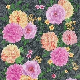Matthew Williamson Duchess Garden Charcoal-Fuchsia-Saffron W7147-02