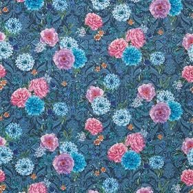 Matthew Williamson Duchess Garden Ink-Magenta-Turquoise F7124-01
