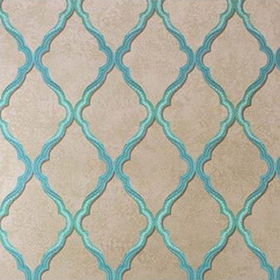 Matthew Williamson Jali Trellis Teal-Gilver W6957-01