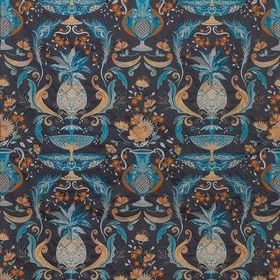 Matthew Williamson La Fuente Smoke-Persian Blue-Ginger F7248-02