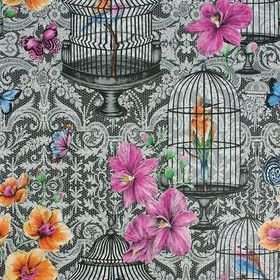 Matthew Williamson Orangery Charcoal-Pink-Orange-Cobalt W7141-01