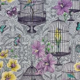 Matthew Williamson Orangery Dove-Amethyst-Lemon W7141-02