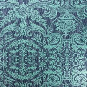 Matthew Williamson Orangery Lace Midnight-Metallic Jade W7142-04