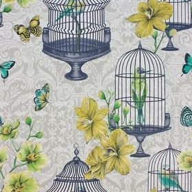 Matthew Williamson Orangery Pale Sage-Yellow-Kiwi W7141-03