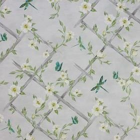 Matthew Williamson Rosanna Trellis Pale Grey-Kiwi-White W7145-04